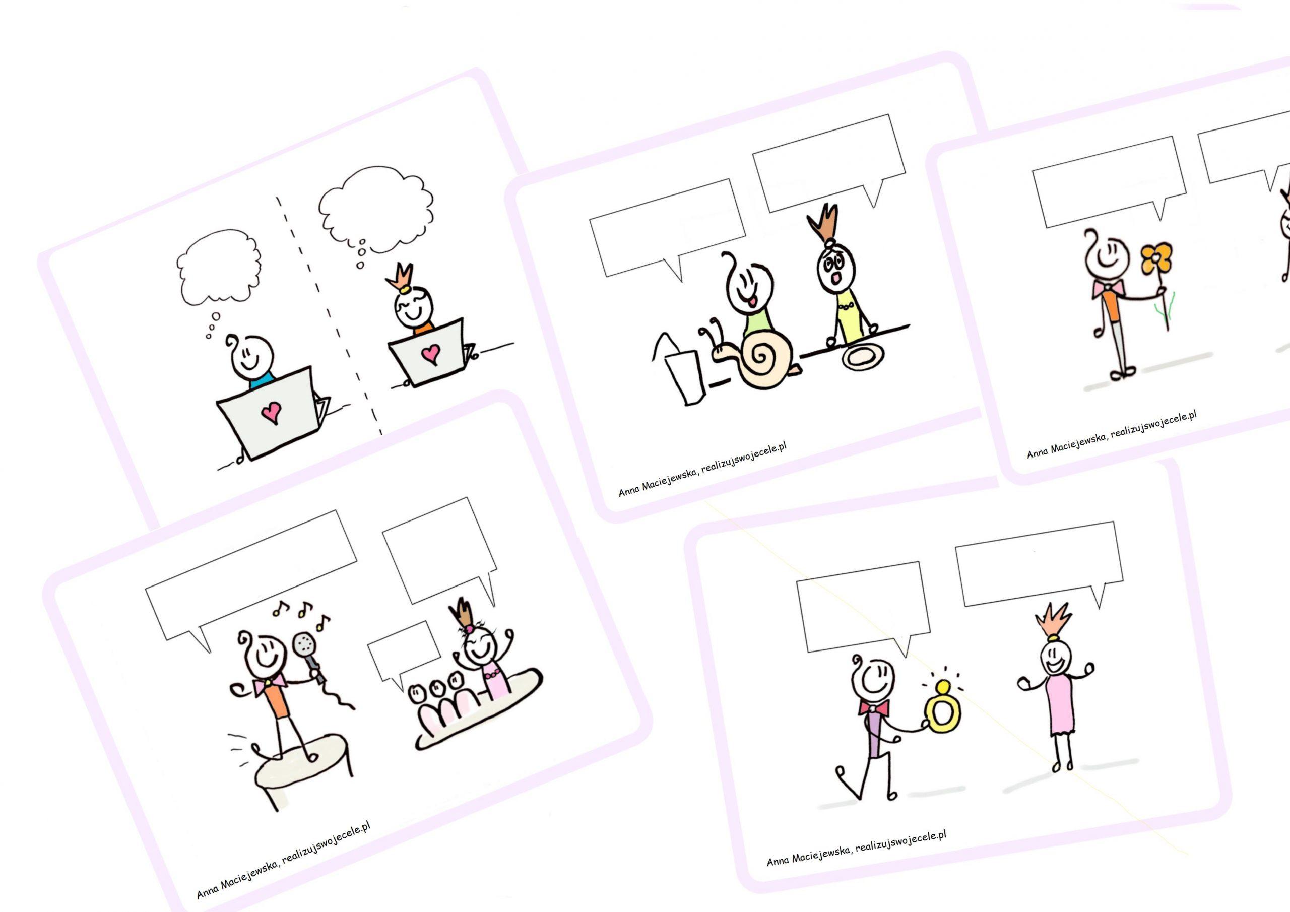 walentynki speaking cards